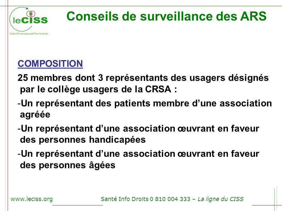 Conseils de surveillance des ARS