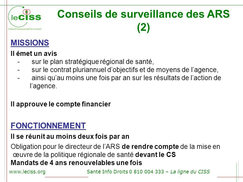 Conseils de surveillance des ARS (2)