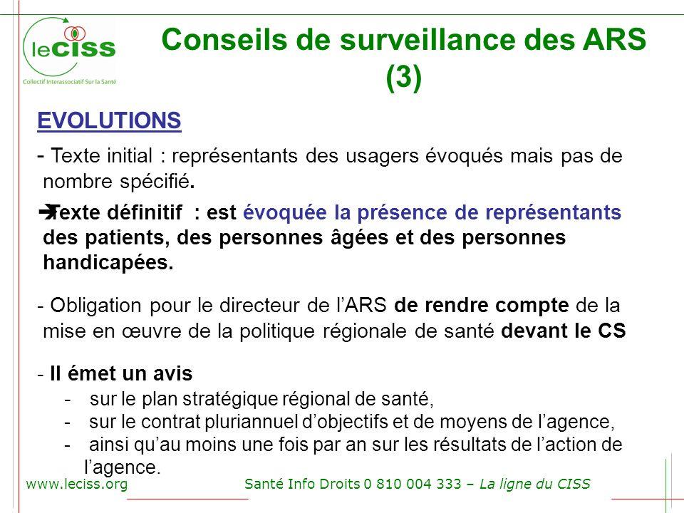 Conseils de surveillance des ARS (3)