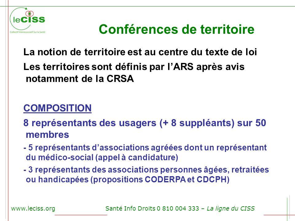 Conférences de territoire