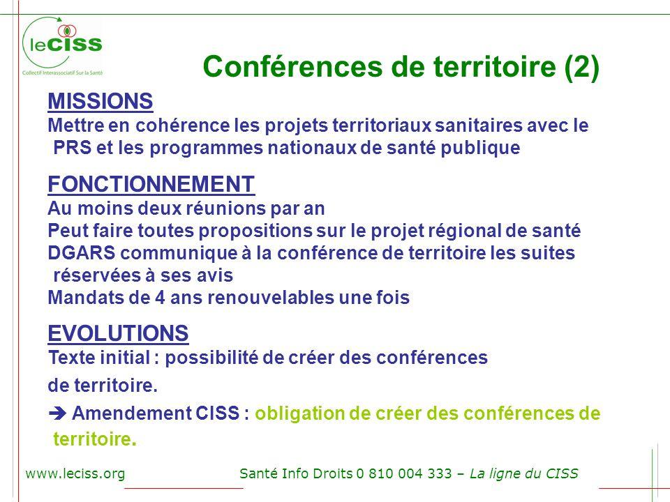 Conférences de territoire (2)