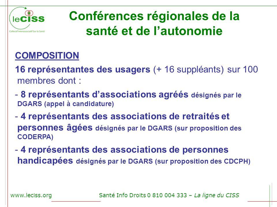 Conférences régionales de la santé et de l'autonomie