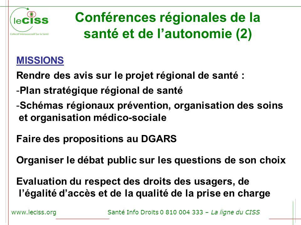 Conférences régionales de la santé et de l'autonomie (2)