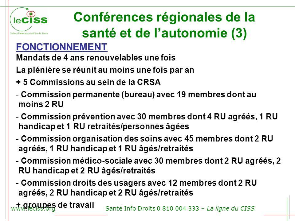 Conférences régionales de la santé et de l'autonomie (3)