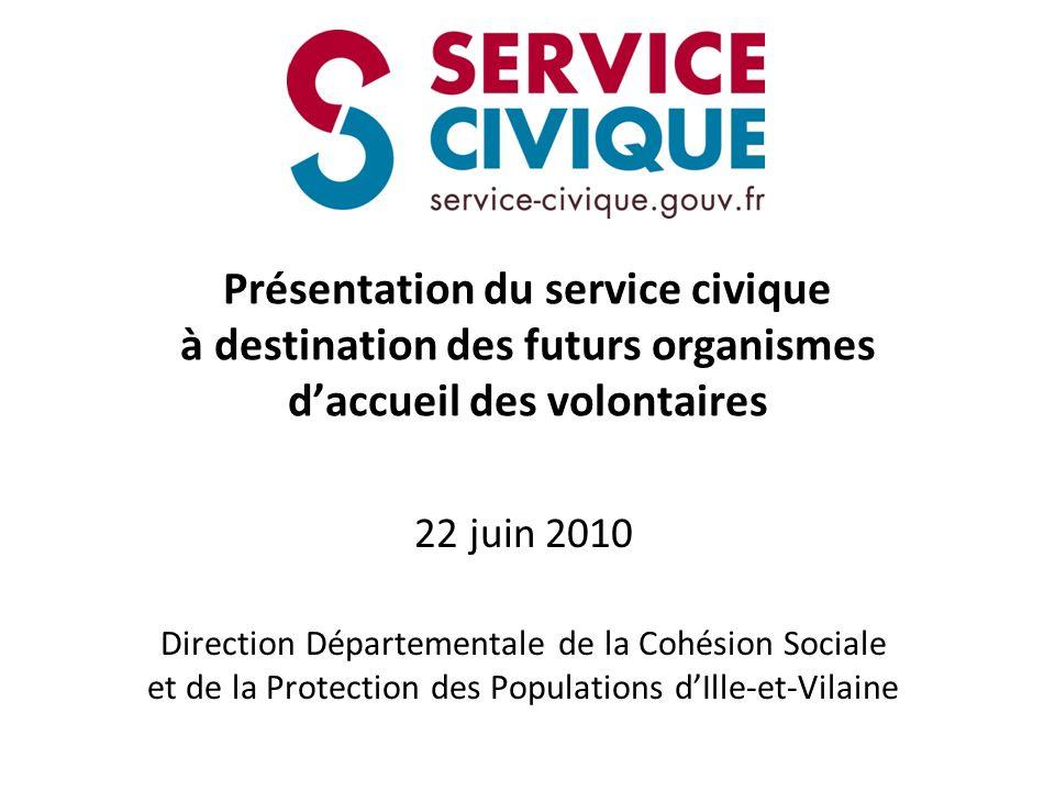 Présentation du service civique à destination des futurs organismes d'accueil des volontaires