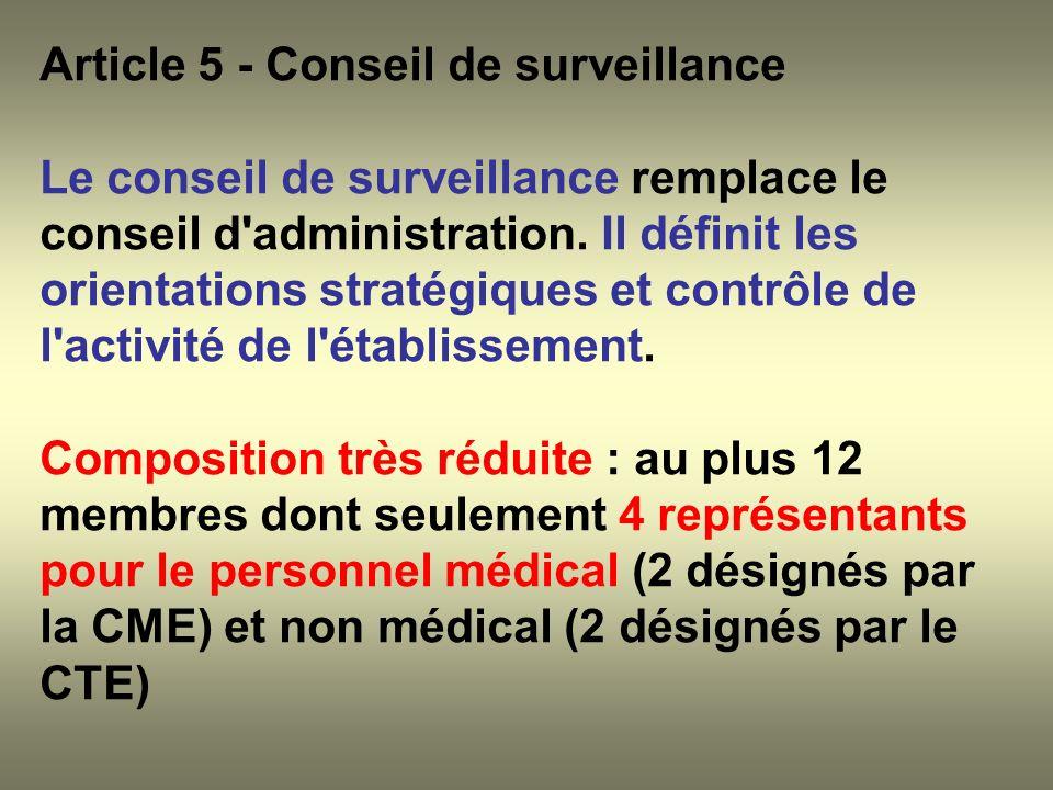 Article 5 - Conseil de surveillance
