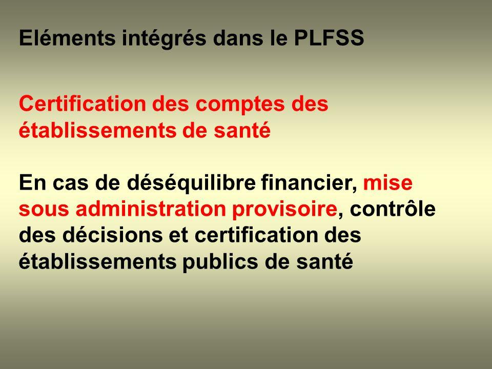Eléments intégrés dans le PLFSS
