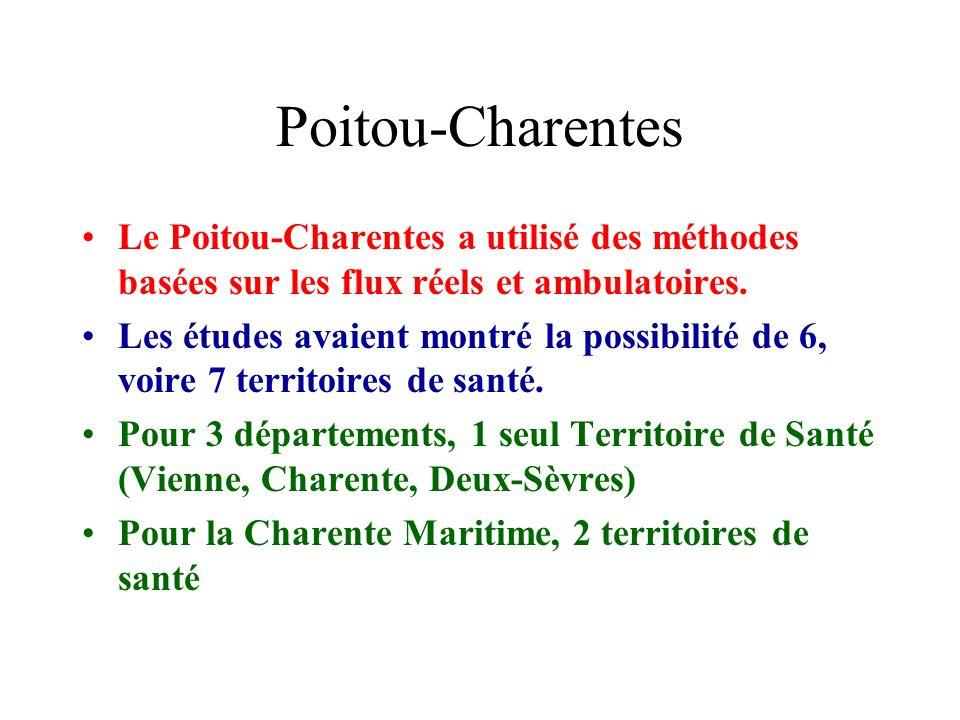 Poitou-CharentesLe Poitou-Charentes a utilisé des méthodes basées sur les flux réels et ambulatoires.