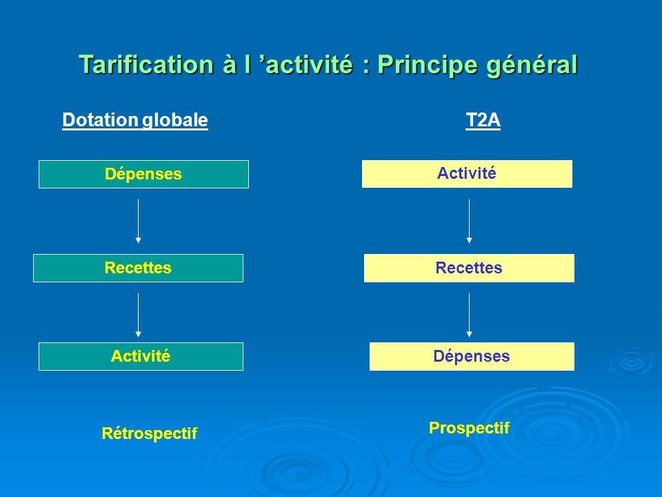 Tarification à l 'activité : Principe général