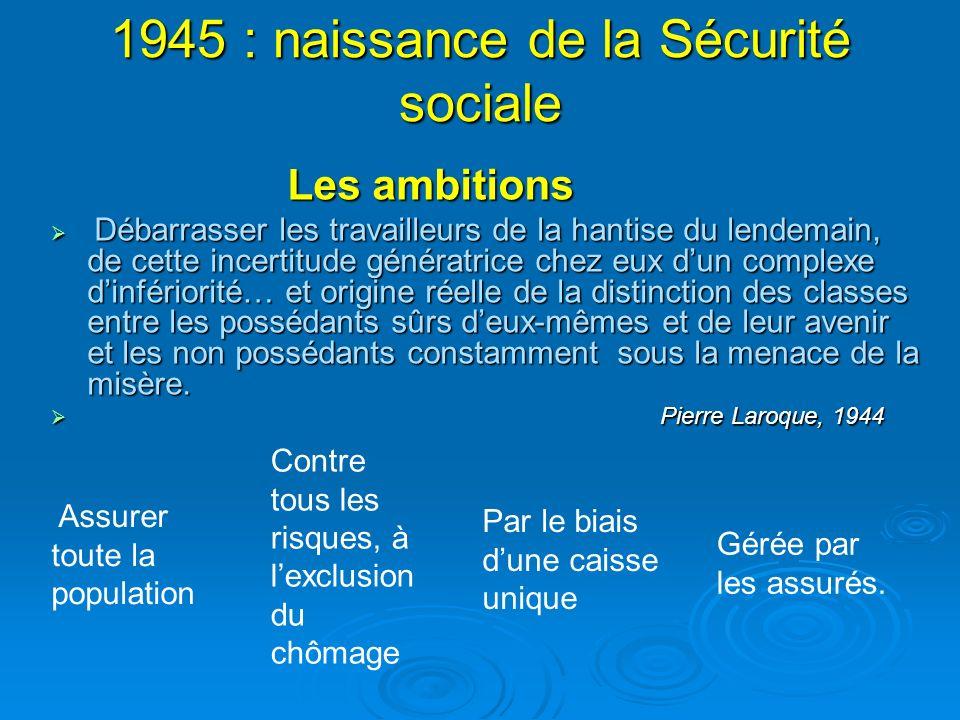 1945 : naissance de la Sécurité sociale