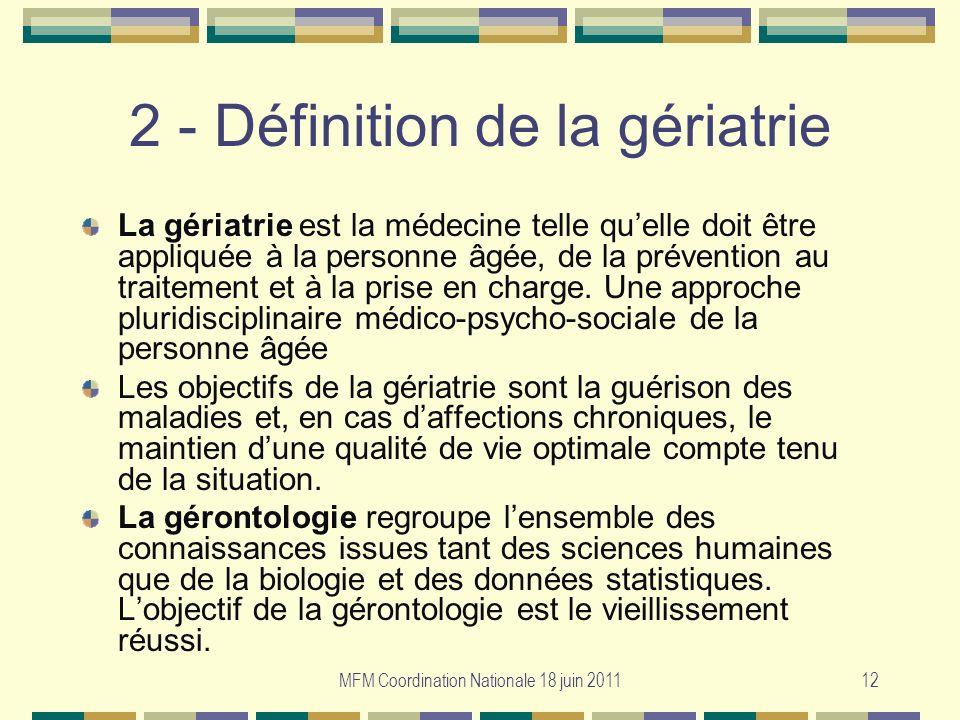 2 - Définition de la gériatrie