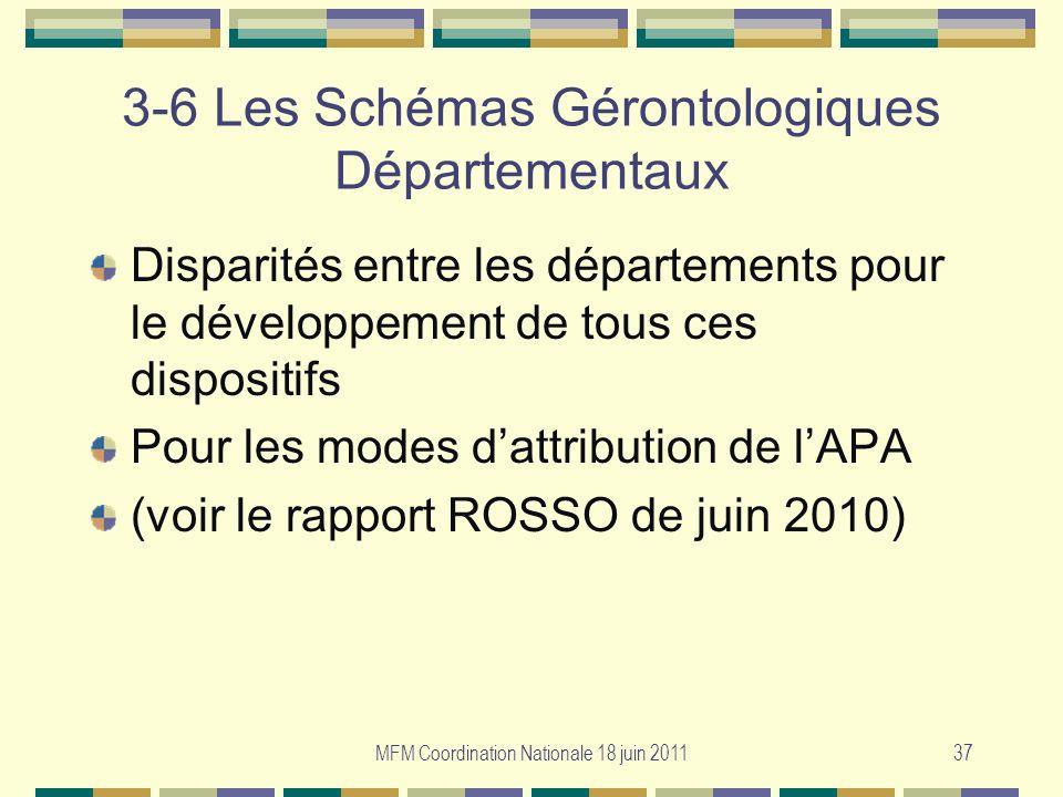 3-6 Les Schémas Gérontologiques Départementaux
