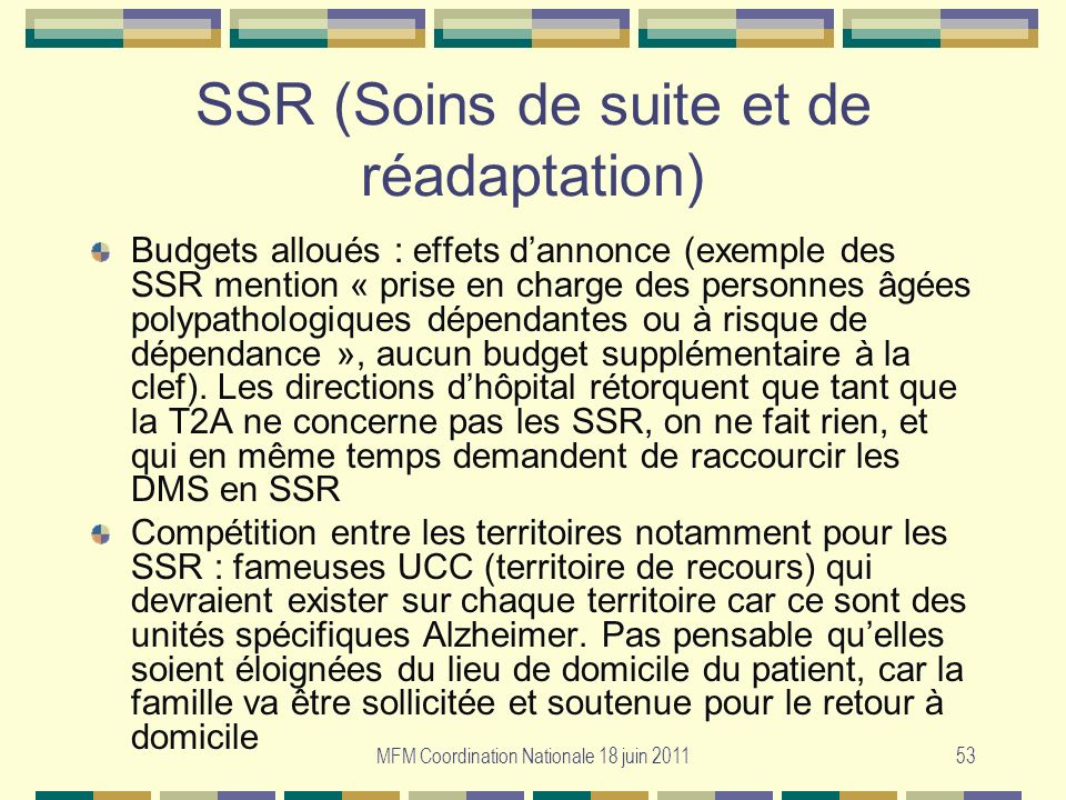SSR (Soins de suite et de réadaptation)