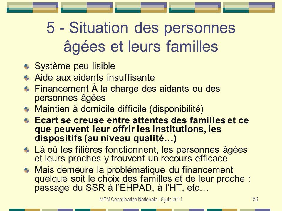 5 - Situation des personnes âgées et leurs familles