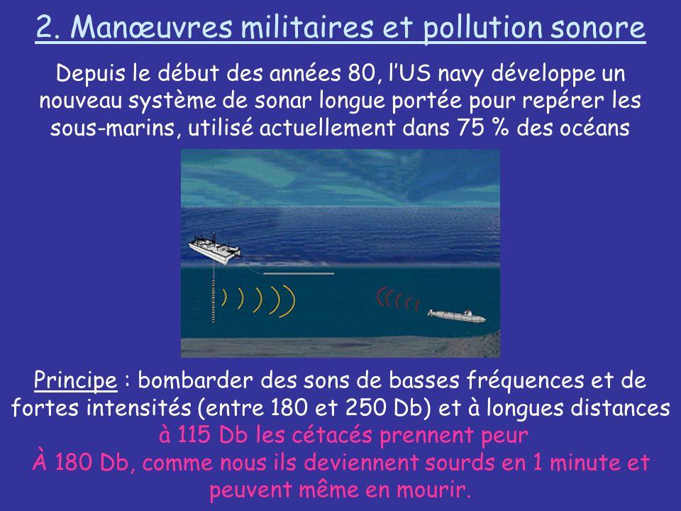 2. Manœuvres militaires et pollution sonore