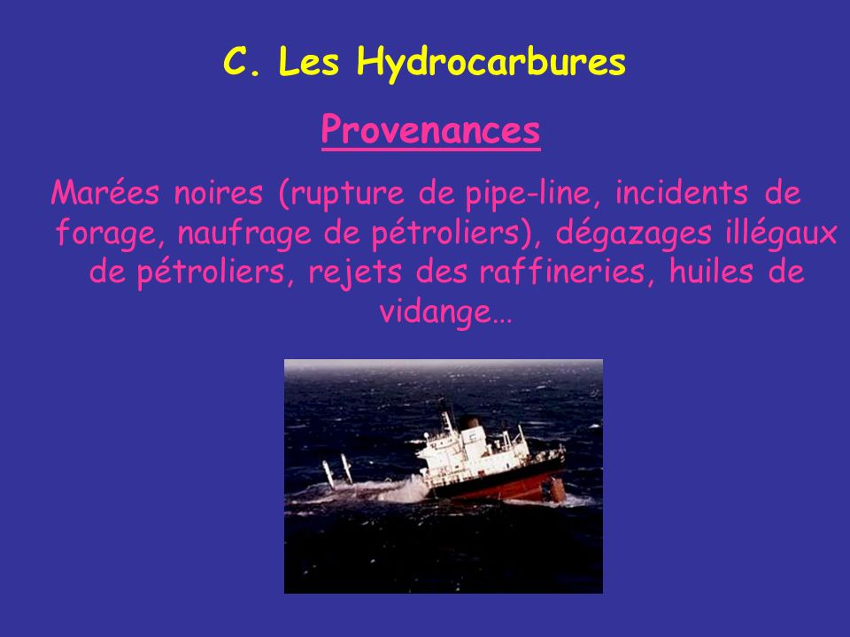 C. Les Hydrocarbures Provenances.
