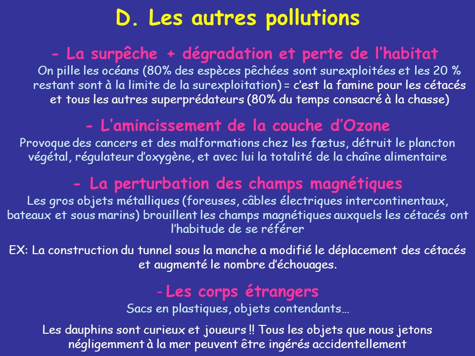 D. Les autres pollutions