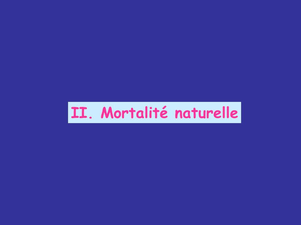 II. Mortalité naturelle