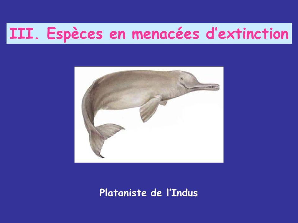 III. Espèces en menacées d'extinction