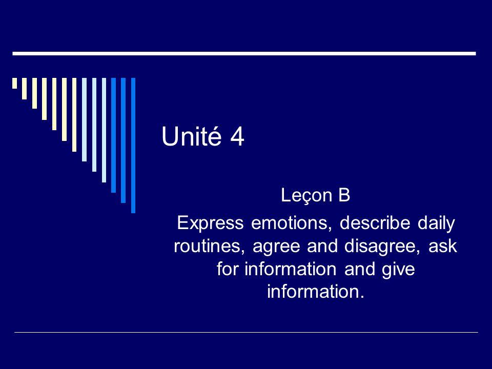 Unité 4 Leçon B.