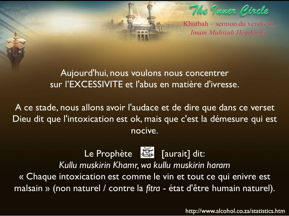 The Inner Circle Aujourd hui, nous voulons nous concentrer