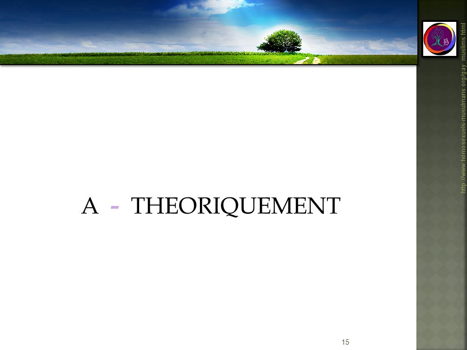 A - THEORIQUEMENT Definitions
