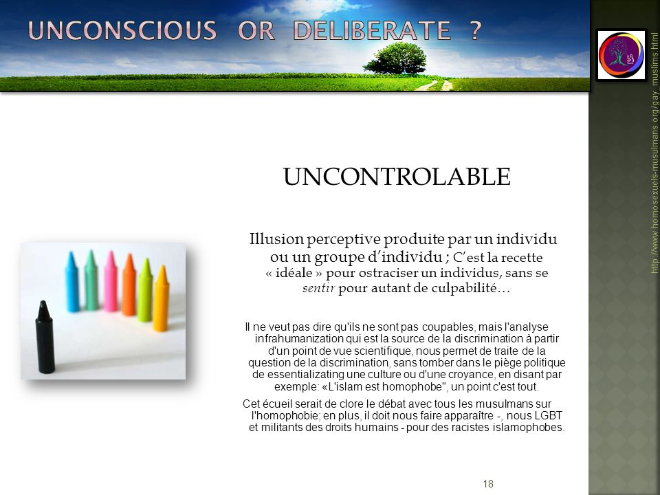 Unconscious or deliberate