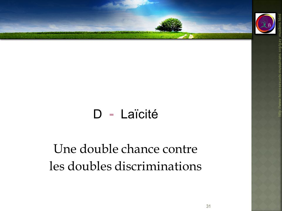 Une double chance contre les doubles discriminations