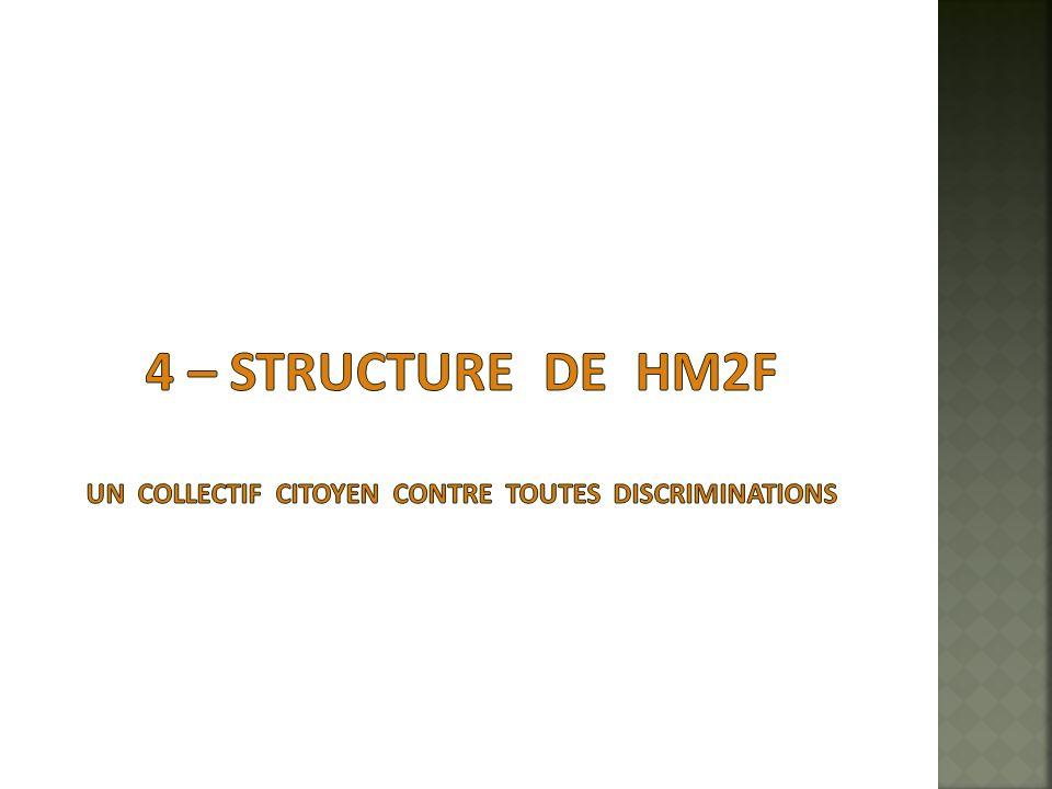 4 – structure de HM2F un collectif citoyen contre toutes discriminations