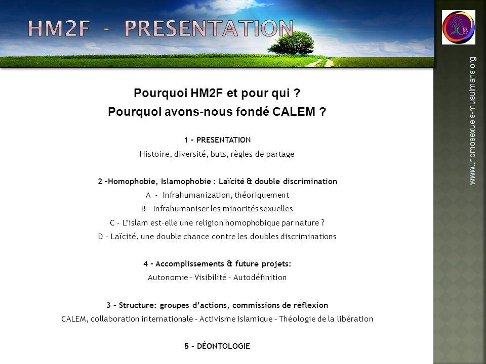 HM2F - PRESENTATION Pourquoi HM2F et pour qui