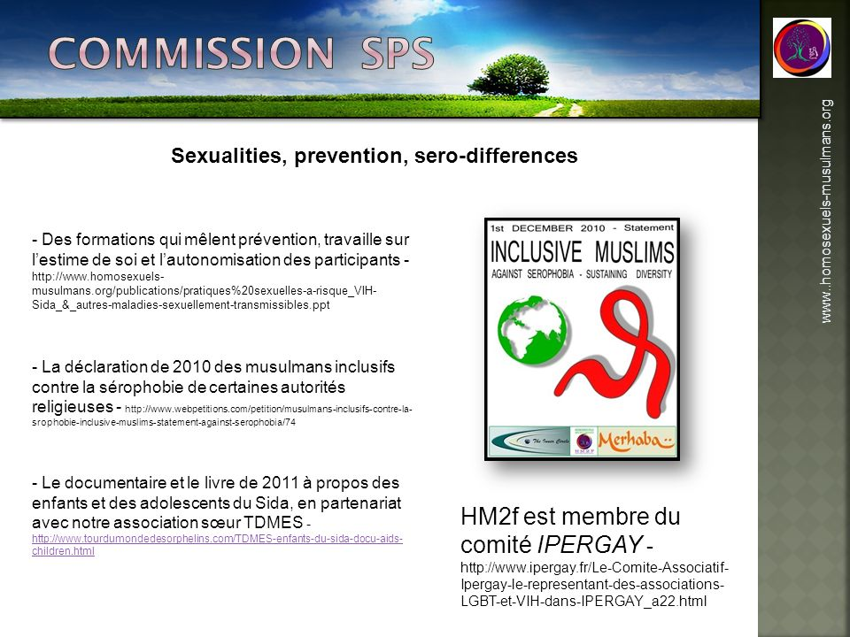 Sexualities, prevention, sero-differences