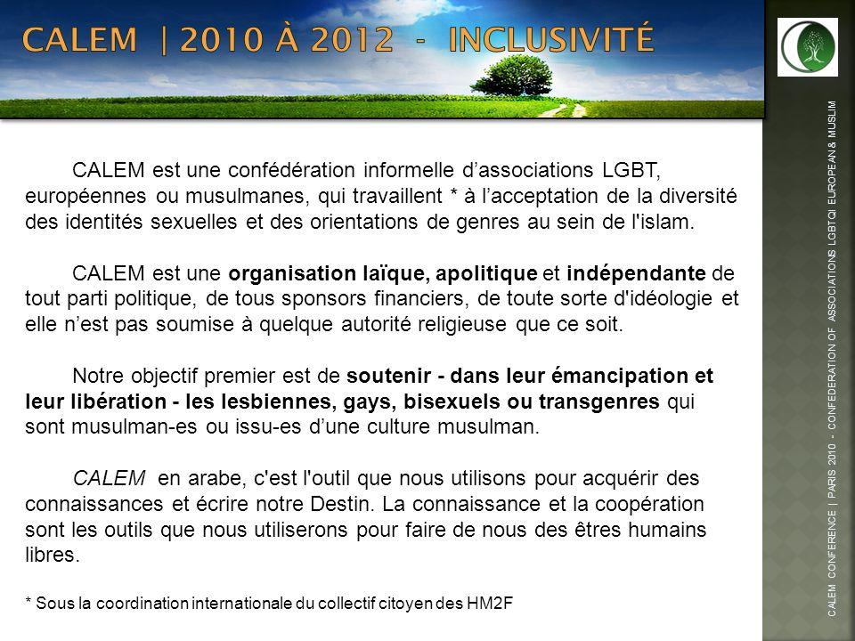 CALEM | 2010 à 2012 - inclusivité