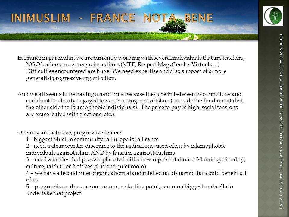 Inimuslim - france Nota bene