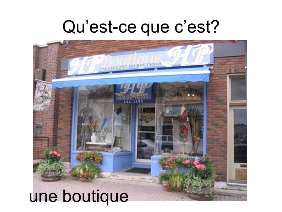 Qu'est-ce que c'est une boutique