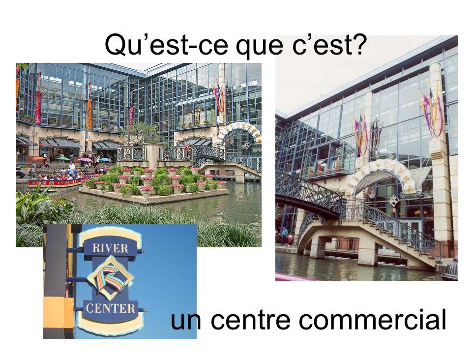 Qu'est-ce que c'est un centre commercial