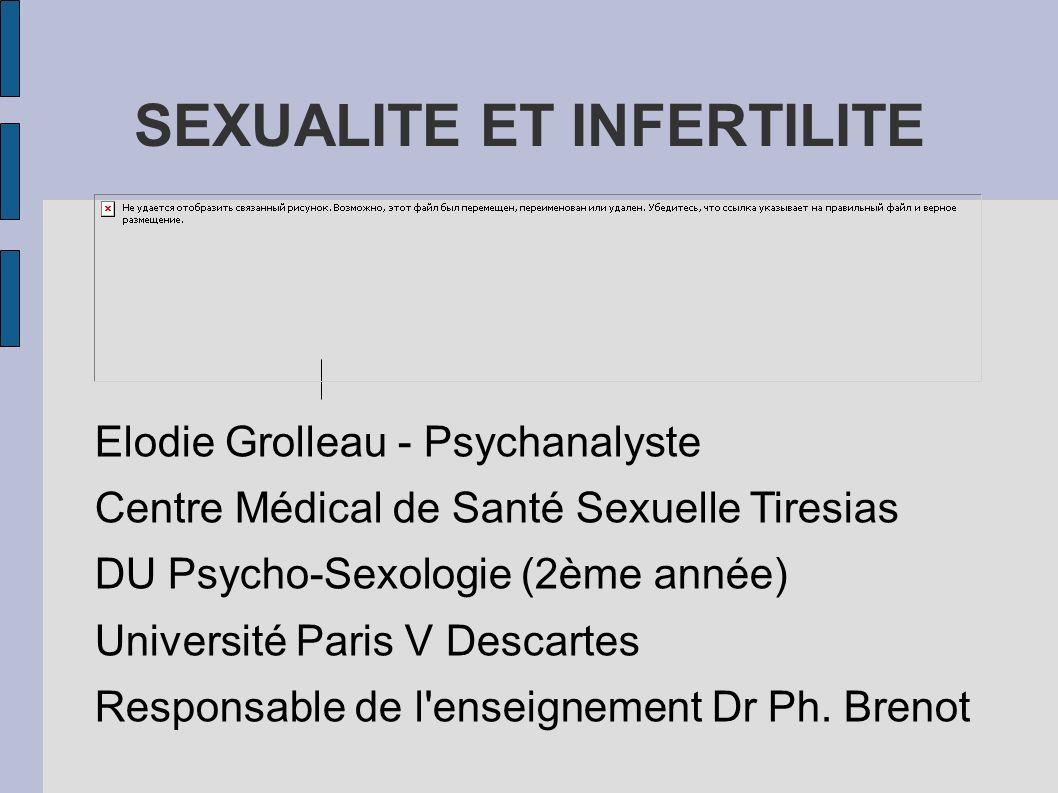 SEXUALITE ET INFERTILITE