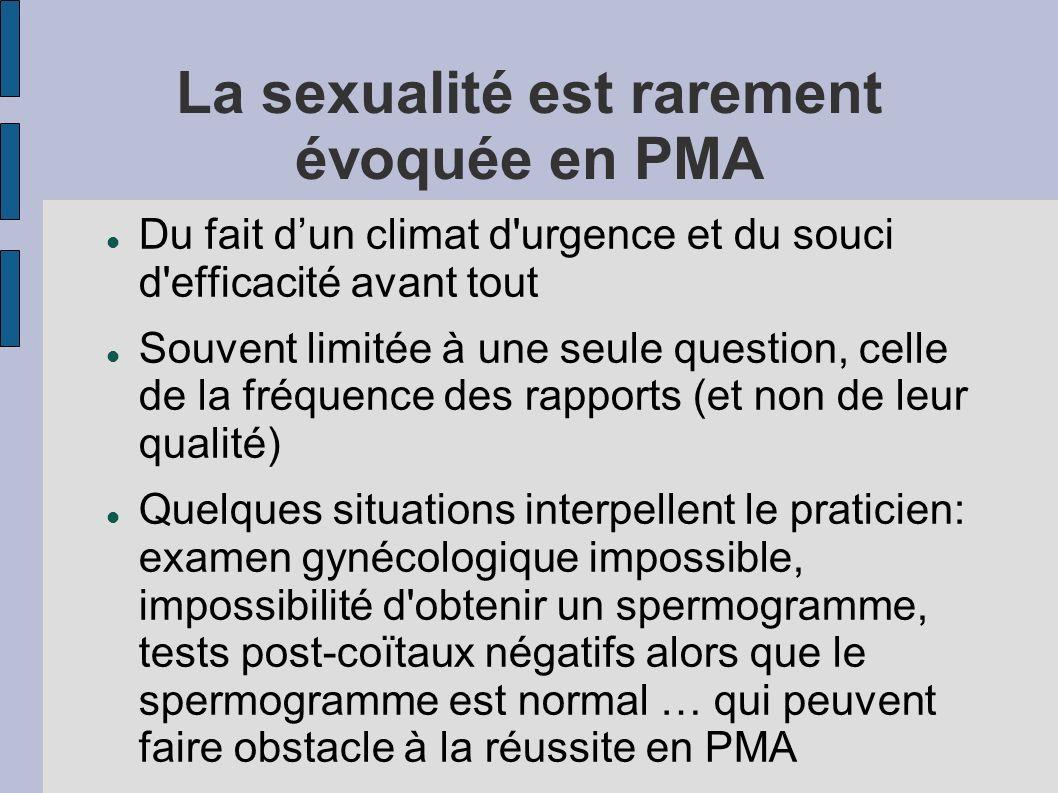La sexualité est rarement évoquée en PMA