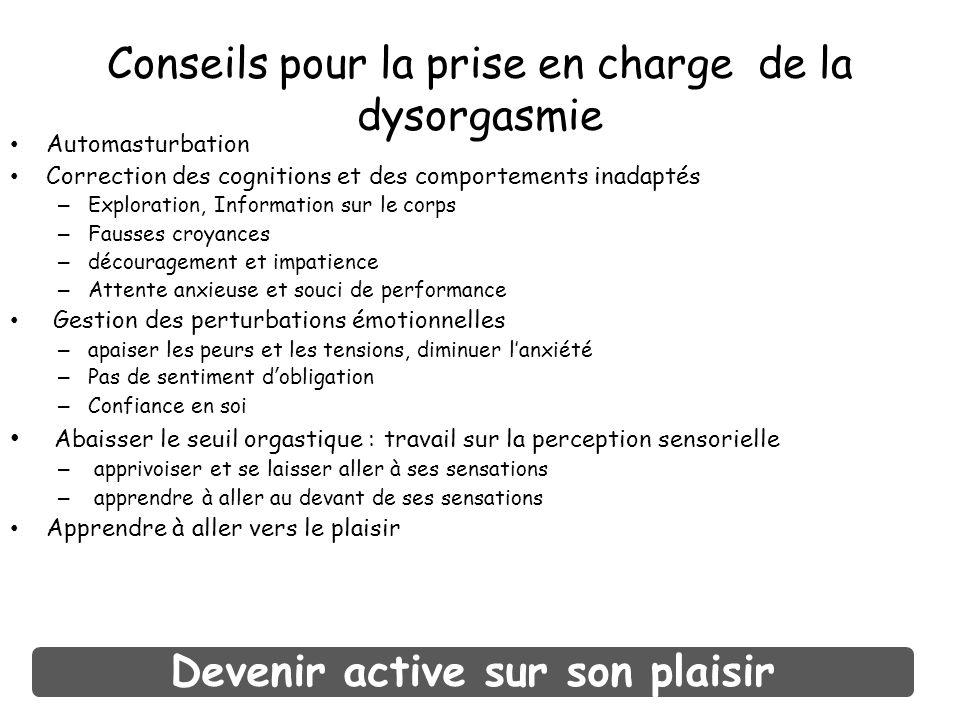 Conseils pour la prise en charge de la dysorgasmie