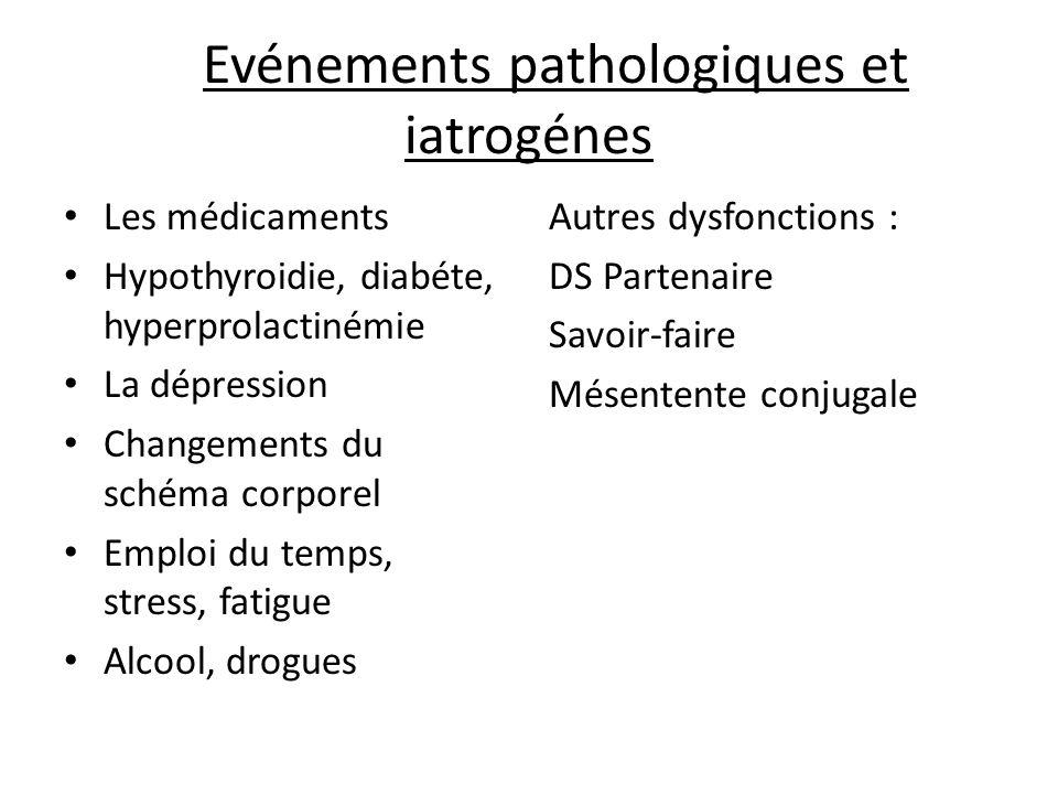 Evénements pathologiques et iatrogénes