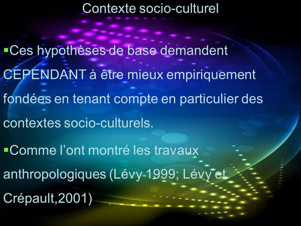 Contexte socio-culturel
