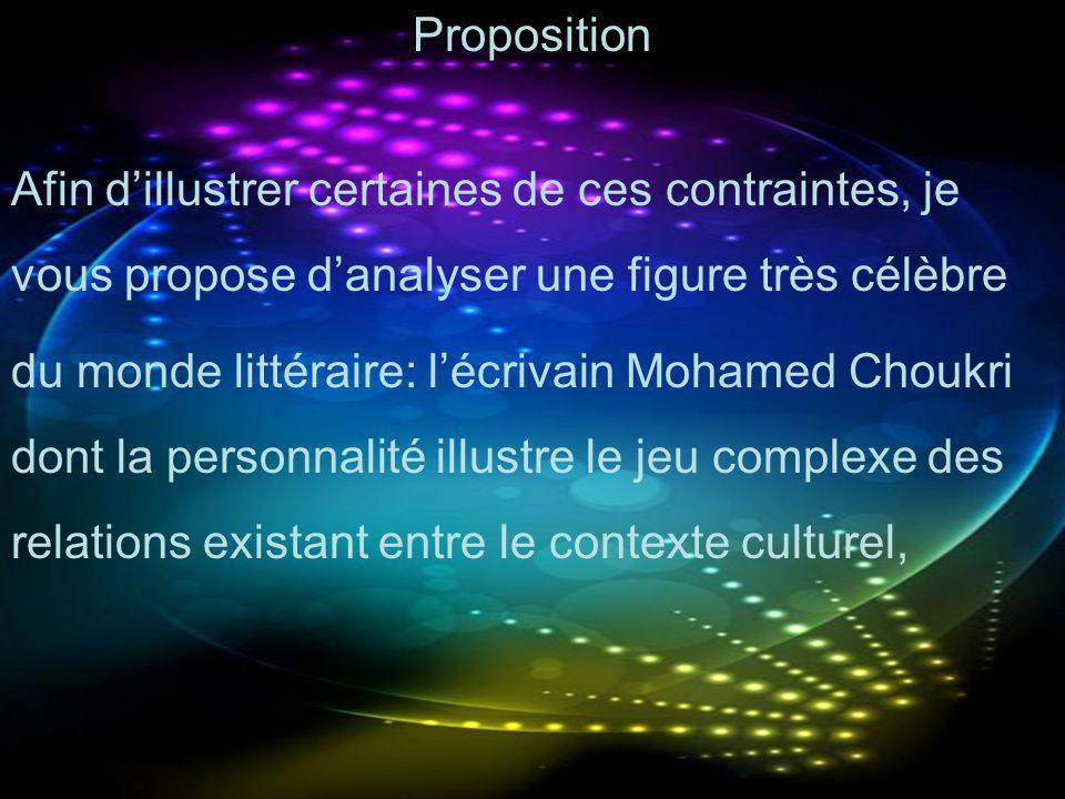 Proposition Afin d'illustrer certaines de ces contraintes, je vous propose d'analyser une figure très célèbre.