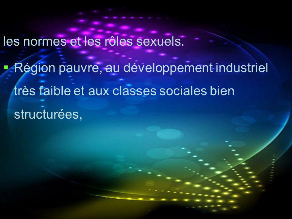les normes et les rôles sexuels.
