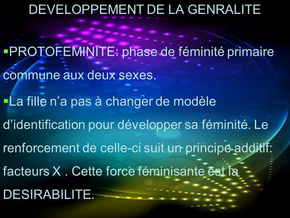 DEVELOPPEMENT DE LA GENRALITE