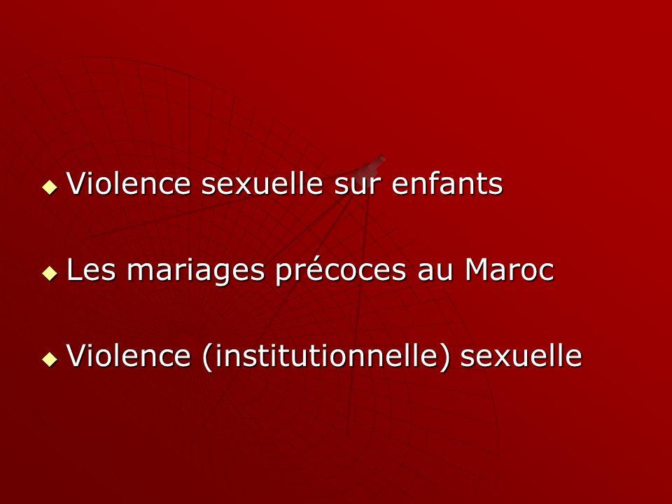 Violence sexuelle sur enfants
