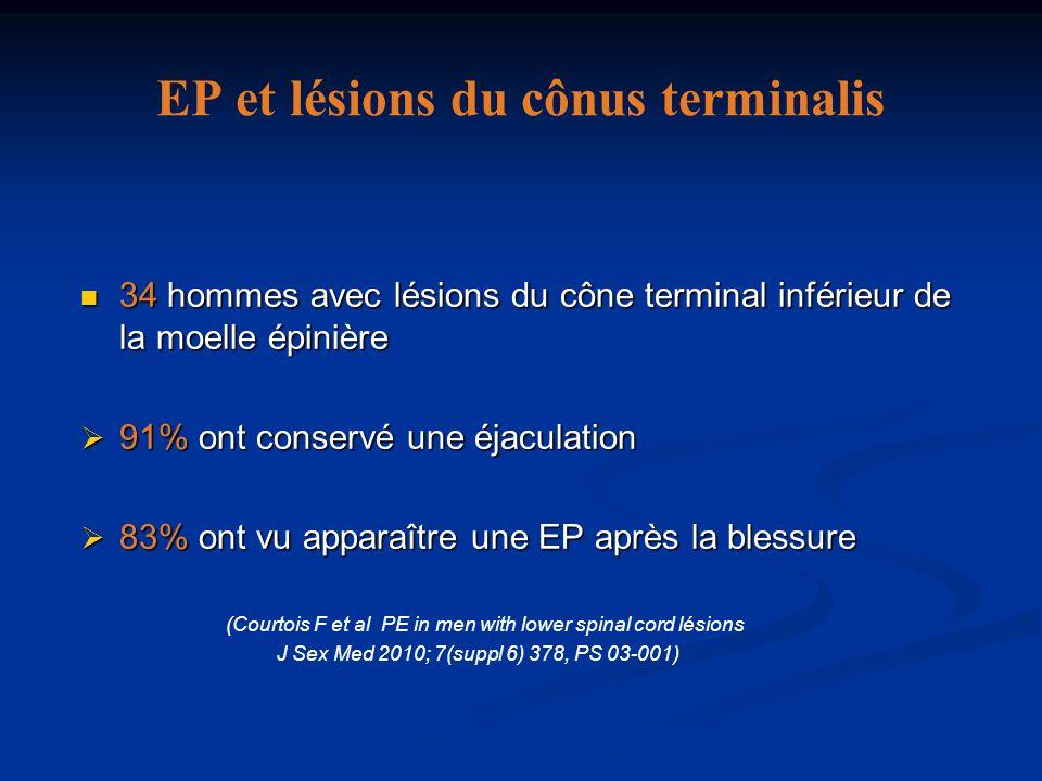 EP et lésions du cônus terminalis