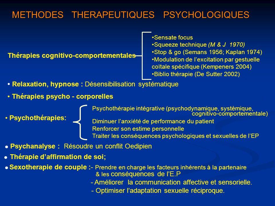 METHODES THERAPEUTIQUES PSYCHOLOGIQUES