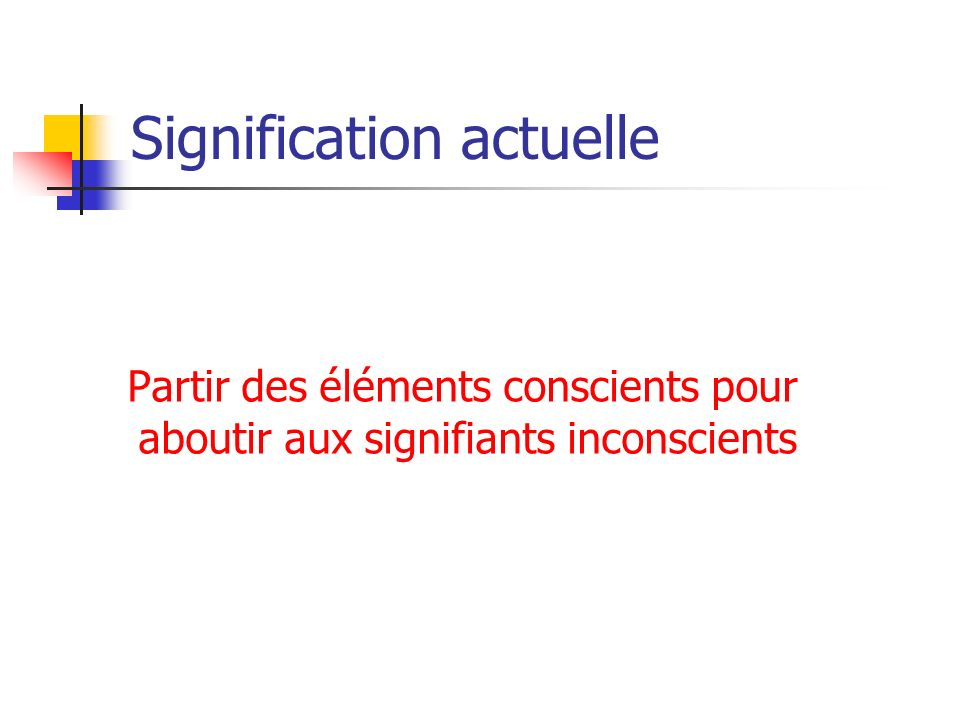 Signification actuelle