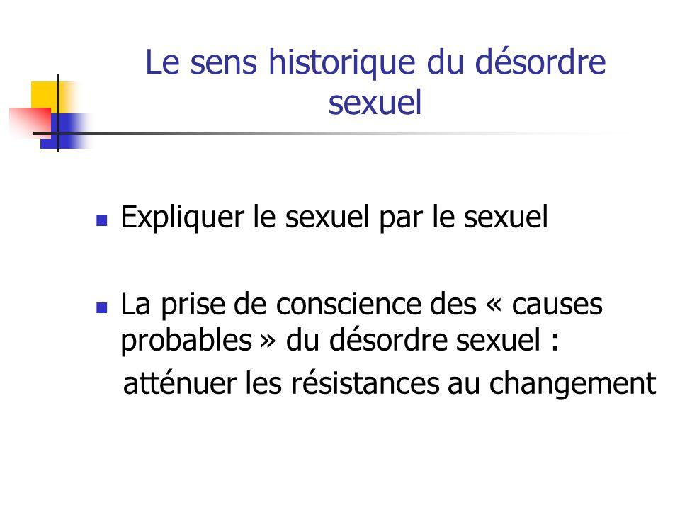Le sens historique du désordre sexuel