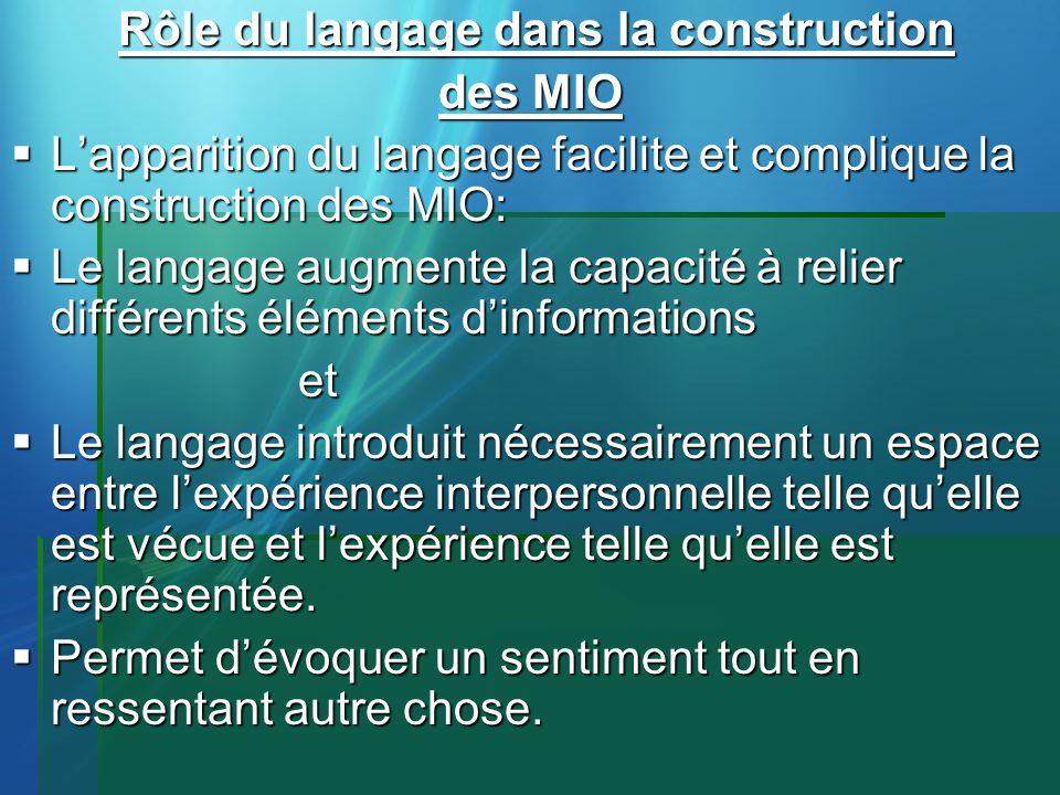 Rôle du langage dans la construction