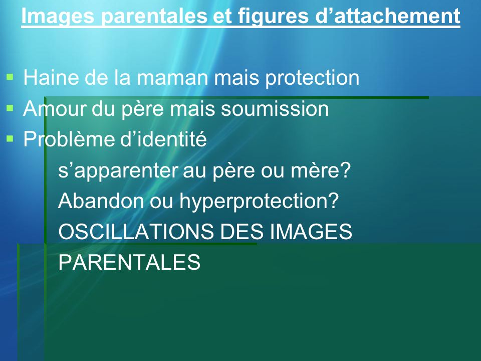 Images parentales et figures d'attachement